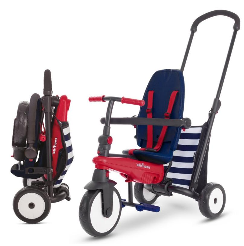 navy 5 in 1 toddlers folding tricycle