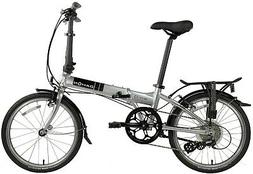 "Dahon Mariner D8 2019 20"" Brushed Silver Folding Bicycle"