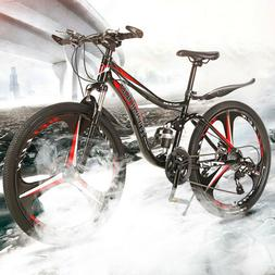 Folding 26 inch carbon steel 21 speed double disc variable s