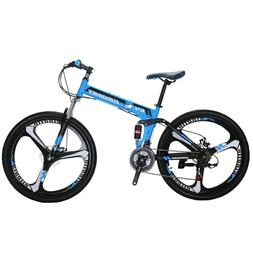 "Mountain bike Foldable Frame 26"" 21 Speed Folding Bicycle Fu"