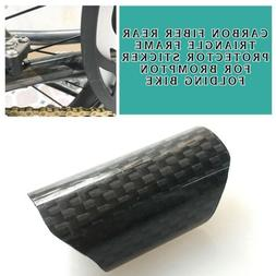 New Carbon Fiber Rear Triangle Frame Protector Sticker for B