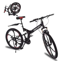 "NEW Folding Bike 26"" Mens 21-Speed Mountain Bike, High Carbo"
