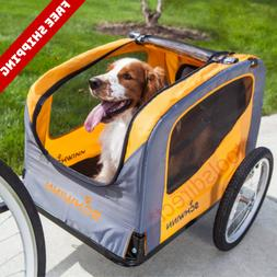 NEW Folding Pet Bicycle Trailer Dog Cat Bike Carrier Hitch S