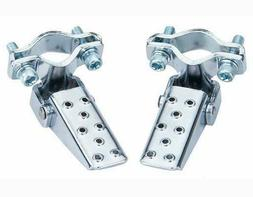 NEW! Pair Bicycle Steel Foldable Folding Fork Foot Step Pegs