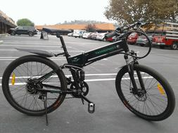 Folding Electric Mountain Bike ebike  Men Women Full Suspens