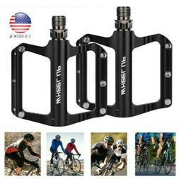 Road Mountain Bike Pedals Flat Wide Platform Sealed Bearing