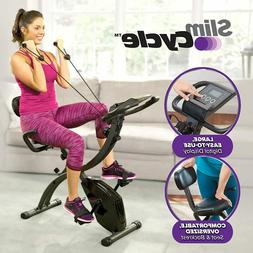 Stationary Bike Exercise Bicycle w/ Resistance Bands Heart M
